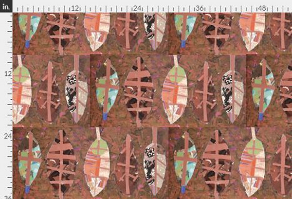 Bliss Red Ochre Yardage
