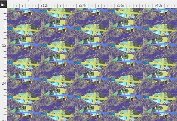 Gratitude Purple Turquoise Fabric Yardage | Dorothy Fagan Collection
