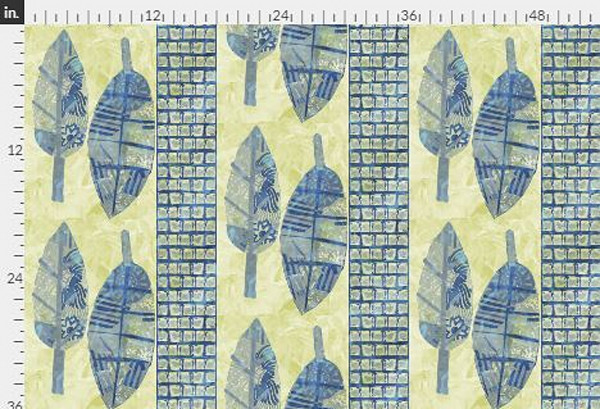 Harmony Yellow Navy Fabric Yardage | Dorothy Fagan Collection