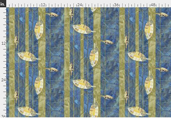 Harmony Stripe Navy Gold Fabric Yardage | Dorothy Fagan Collection