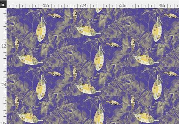 Harmony DOT Purple Gold Fabric Yardage | Dorothy Fagan Collection