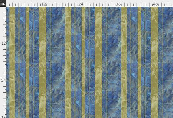 Collage Stripe Gold Navy Fabric Yardage | Dorothy Fagan Collection