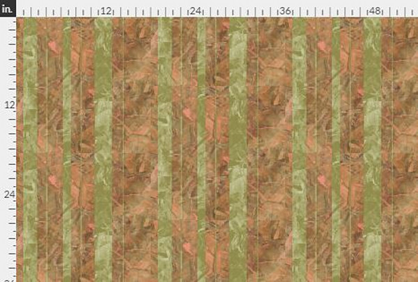 Collage Stripe Red Earth Gold Fabric Yardage | Dorothy Fagan Collection