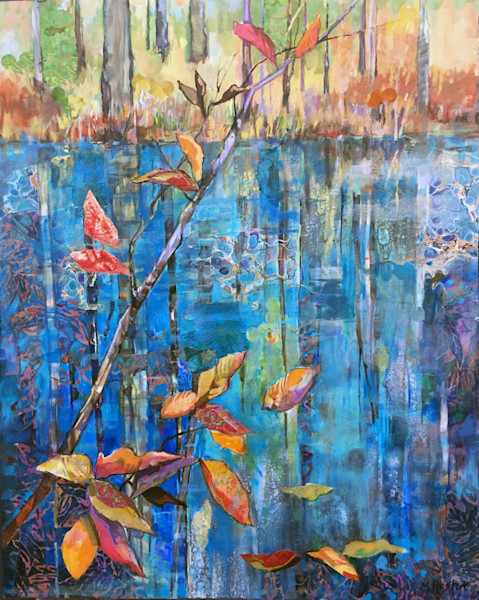 Artist Marty Husted presents a mixed media portfolio of landscapes filled with color and texture.