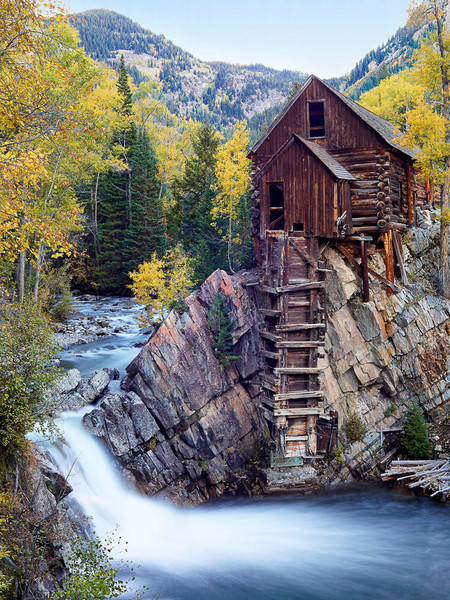 Autumn at Colorado's Crystal Mill Print