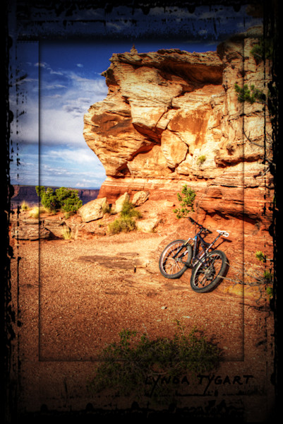Lynda Tygart Bicycle on Rocks in Moab Utah at Sunset – Fine Art Photographs Prints on Canvas, Paper, Metal & More.