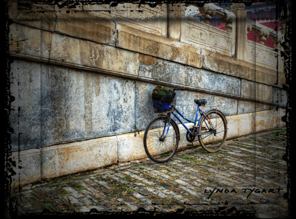 Lynda Tygart Bicycle in Forbidden City in Beijing China – Fine Art Photographs Prints on Canvas, Paper, Metal & More.