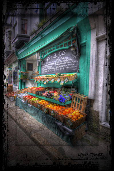 Lynda Tygart Produce Market Deli Two in England Great Britain Europe – Fine Art Photographs Prints on Canvas, Paper, Metal & More.