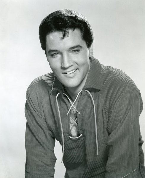 Original Vintage Press Print Elvis Presley Smiling