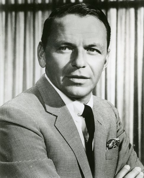 Original Vintage Press Print Frank Sinatra Smiling Faintly