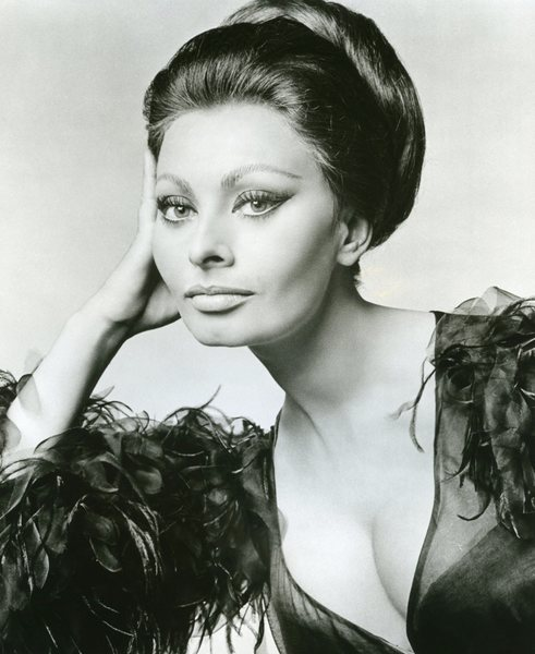 Original Vintage Press Print Sophia Loren Headshot beautiful subtle smile