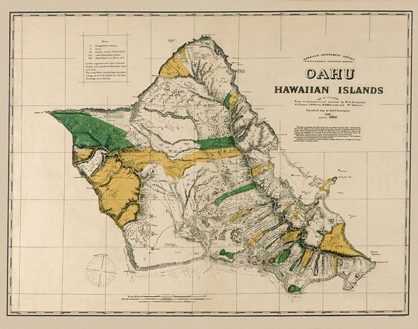 Island of Oahu 1881