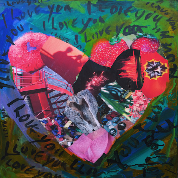 Buy I Love You - High Quality Print of Mixed Media original
