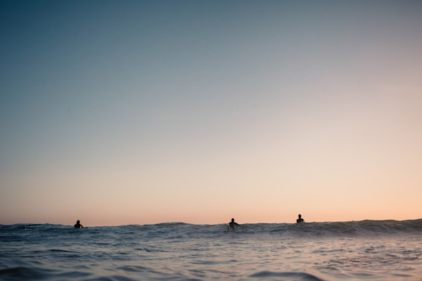 California Surfers wait for the next wave - available now as Fine Art Print