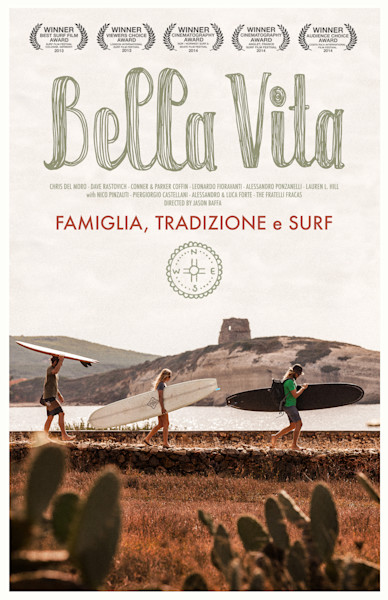 surf movie poster for bella vita by jason baffa