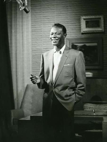 Original Vintage Press Print Nat King Cole Singer Smiling