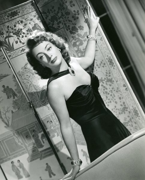 Original Vintage Press Print Joan Crawford actress night dress