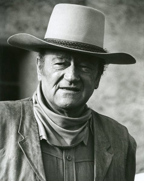 Original Vintage Press Print John wayne cowboy hat actor producer director