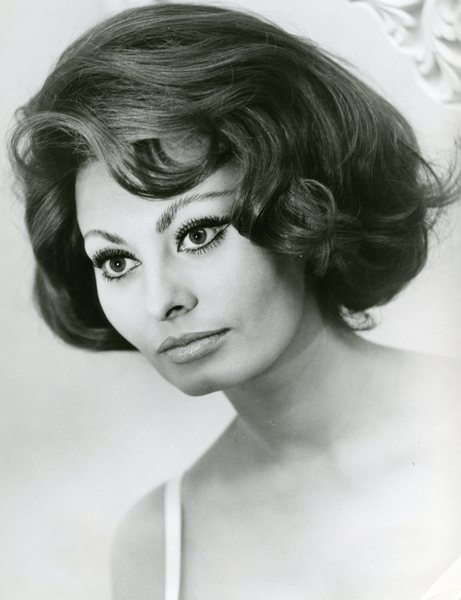 Original Vintage Press Print Sophia Loren Headshot beautiful subtle smile portrait italian actress