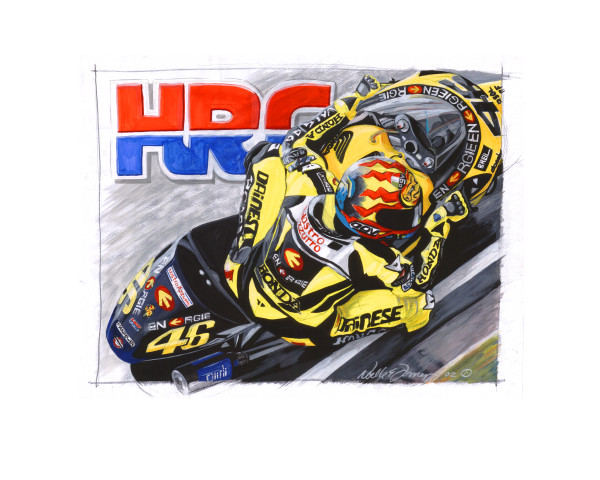honda racing valentino rossi motorcycle painting