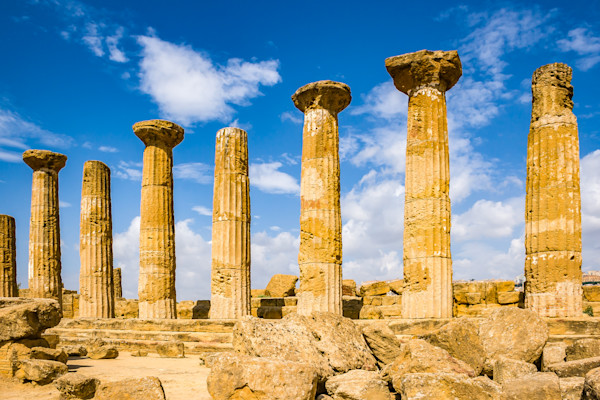 Majestic Columns in Agrigento's Valley of Temples