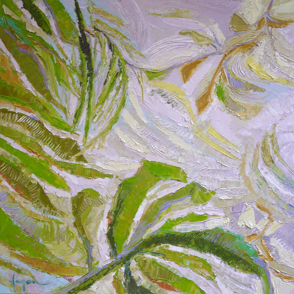 Greenery Fern | Original Oil Painting Dorothy Fagan Collection