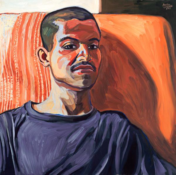 immigration, latino man, portrait, painting, art
