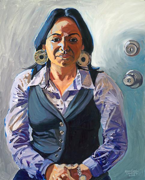 latina, peruvian, portrait, painting, art