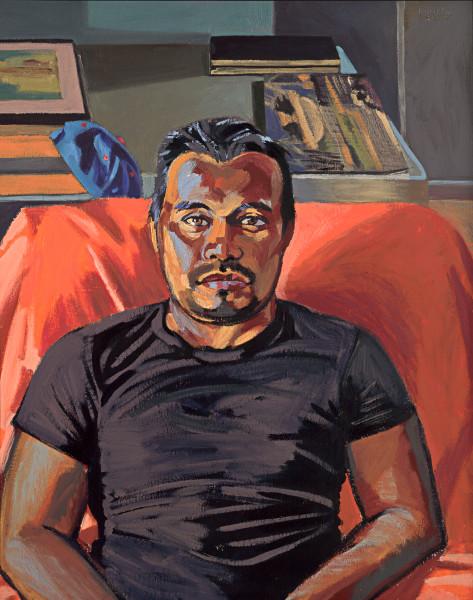 immigration, latino, black, portrait, painting, art