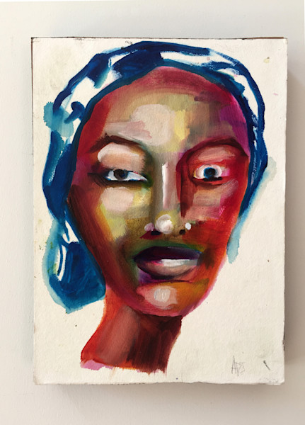 Hauwa Painting by Angela Davis Johnson.