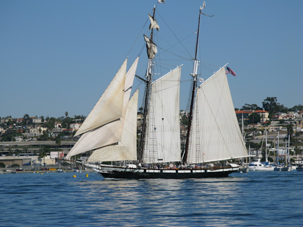 The Californian under sail