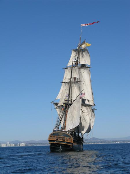 Tall Ship HMS Surprise at sea
