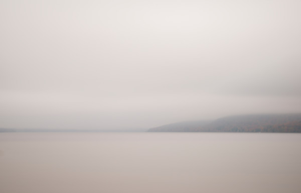 Photograph of Autumn Fog on a lake for sale as fine art.