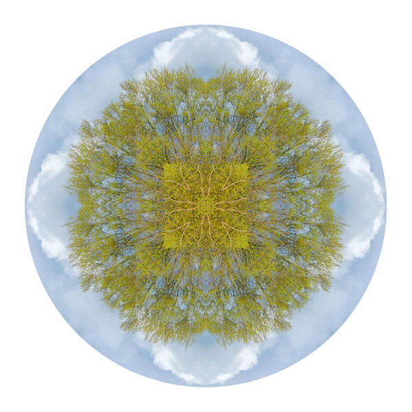 April Skies for sale as fine art photographic mandala.