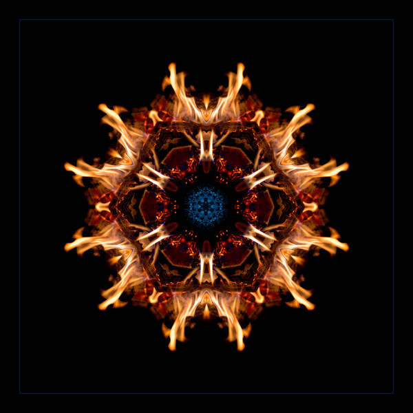 Spirit Rekindled for sale as fine art photographic mandala.