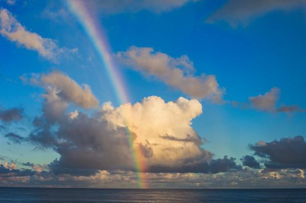 Rainbow over Ehukai Beach Park North Shore Oahu - Fine Art Photo print