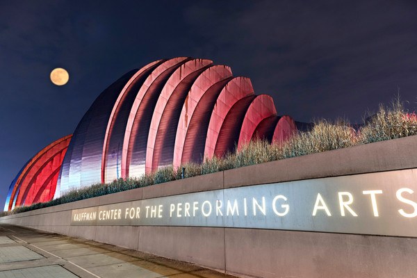Buy An Amazing Photograph Print of Kansas City's Kauffman Center in Red