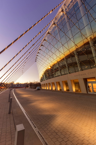Kauffman Center At Sunset Reflecting Kansas City photograph for sale as art.
