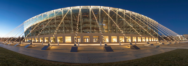 Kansas City Kauffman Center Panorama photograph for sale as art.