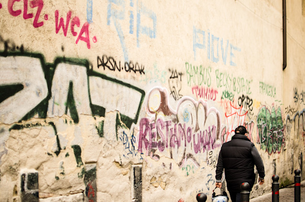 Graffiti Covering a Canvas | Fine Art Travel Photographs