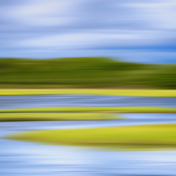 """Zeke's Creek"" Jamestown RI Abstract Coastal Marsh Photograph"