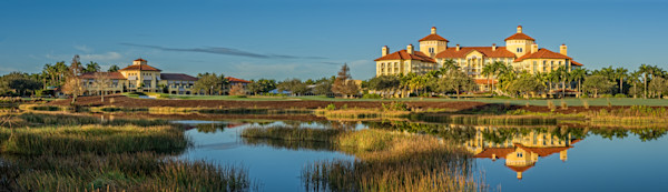 The Ritz Carlton Hotel, from the 9th fairway at Tiburon Golf Club's Gold Course