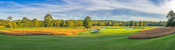 Panorama of Capital City Club's Crabapple Course's 17th hole
