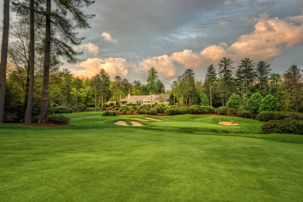 Wade Hampton Golf Club, Cashiers, NC, 9th Hole and clubhouse