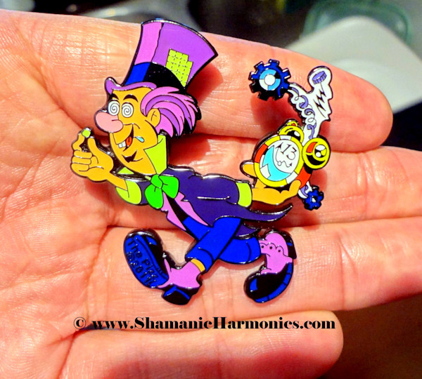 OFFICIAL Mad Hatter Pin - Classic LSD Blotter Art Hat Pin