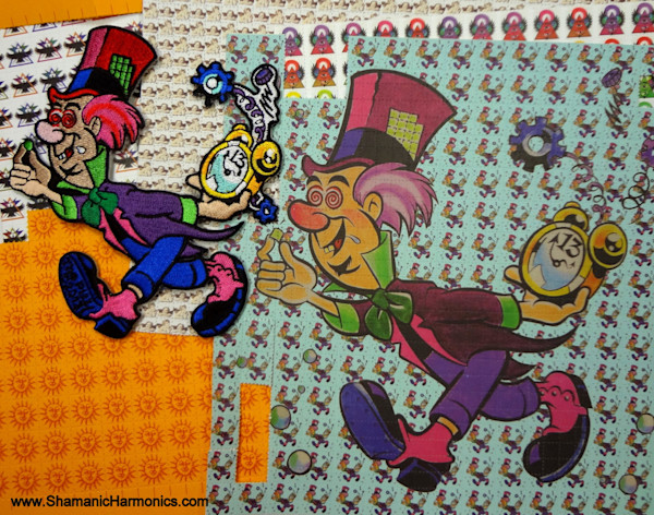 OFFICIAL Mad Hatter LSD Blotter Art Iron-On Patch - 5""