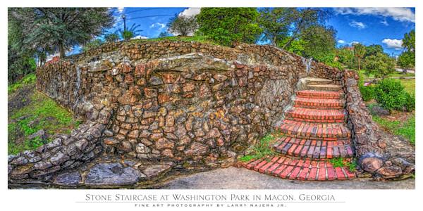 View of Washington Park Stone Staircase towards Poplar St.