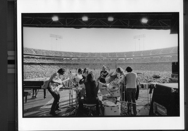 Original Vintage Press Print CSNY folk rock supergroup performing in concert