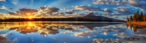 Cascades Lake Mountain Reflection photograph for sale as art.