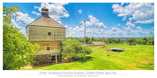 Fort Hawkins Overlooking Downtown Macon
